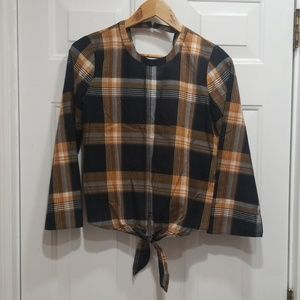 NWT Madewell plaid blouse, size XS
